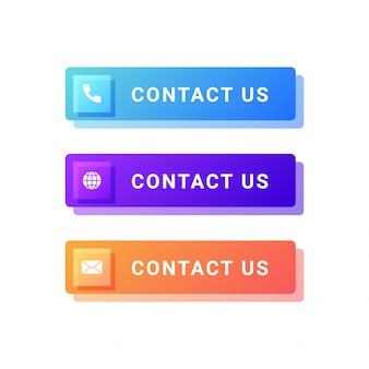 Contact us buttons illustration