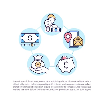 Contact us concept icon with text. products and services cost reduction strategy implementation. ppt page  template.