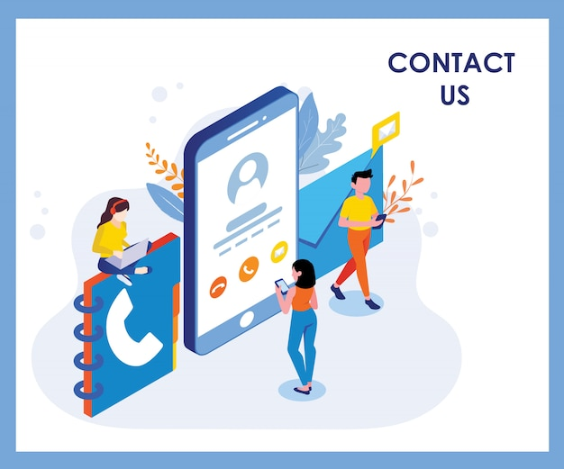 Contact us illustration