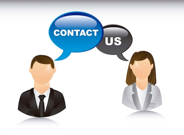 Contact us  illustrationover white background vector