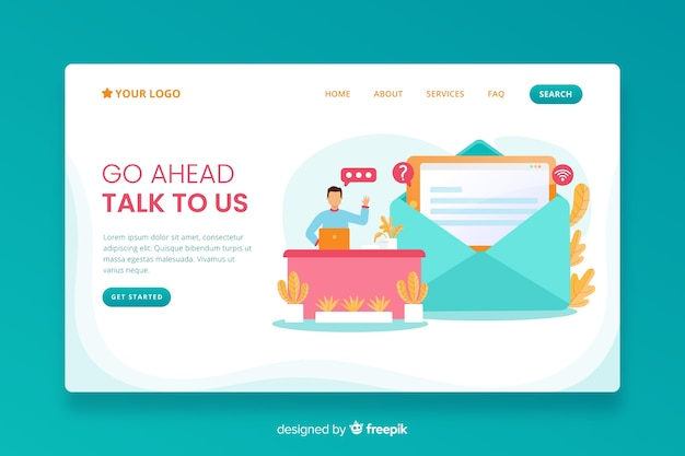 Contact us landing page business