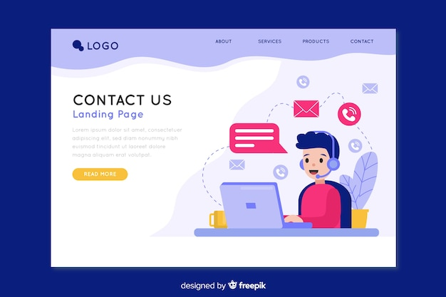 Contact us landing page for company