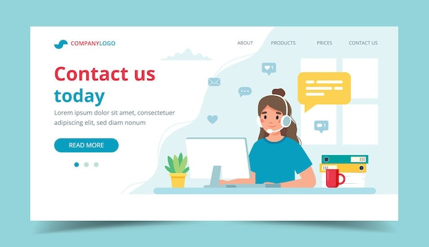 Contact us landing page illustration