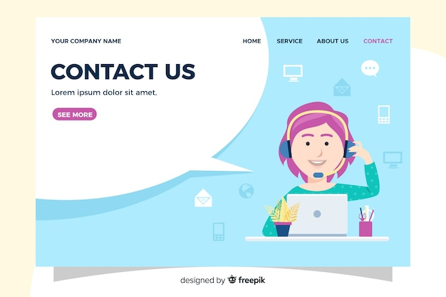 Contact us landing page information