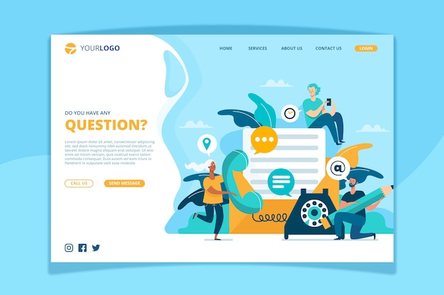 Contact us landing page template