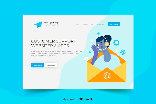 Contact us landing page with customers support