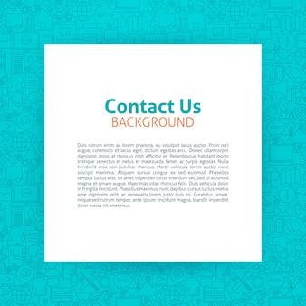 お問い合わせテンプレート。ビジネスアウトラインデザイン上の紙のベクトルイラスト。