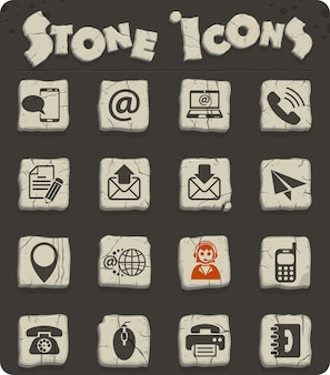 Contact us web icons for user interface design