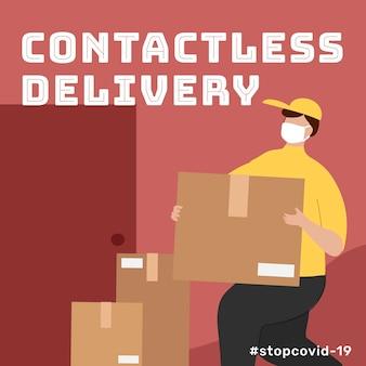 Consegna senza contatto durante la pandemia di coronavirus