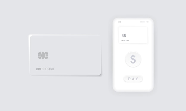 Contactless payment icon. nfc. credit card. smart phone and wireless pos terminal realistic style. vector eps 10. isolated on background.