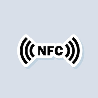 Contactless payment sticker. nfc icon. wireless payment. contactless cashless icon. vector on isolated background. eps 10.