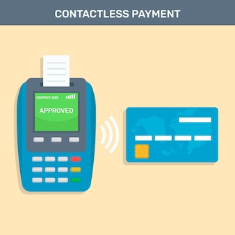 Contactless payment with flat credit card