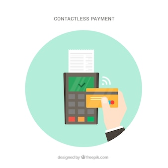 Contactless payment with flat design