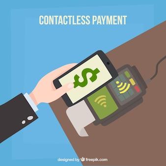 Pagamento senza contatti con smartphone