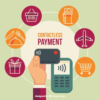 Contactless payment with variety of icons