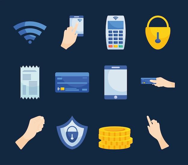 Иконки бесконтактных платежей