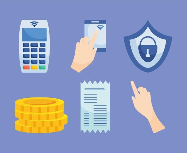Символы бесконтактных платежей
