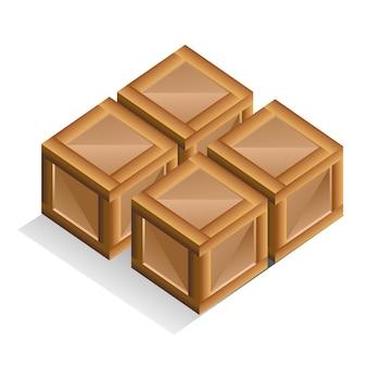 Контейнер коробка иллюстрация. игровые элементы