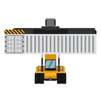 Container cargo forklifts.