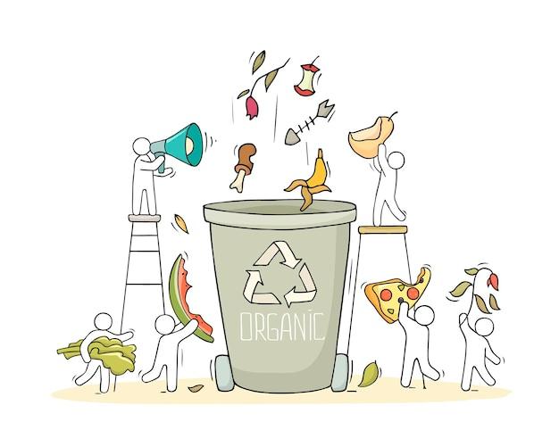 유기쓰레기용 용기.