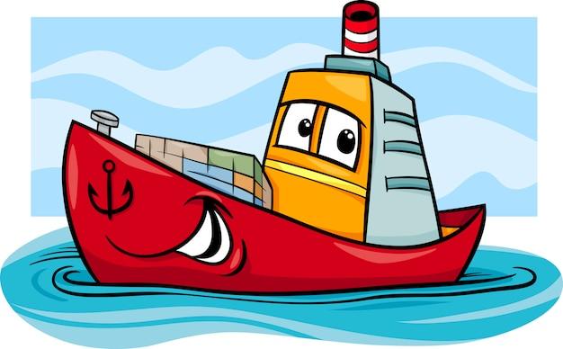Иллюстрация контейнерного корабля