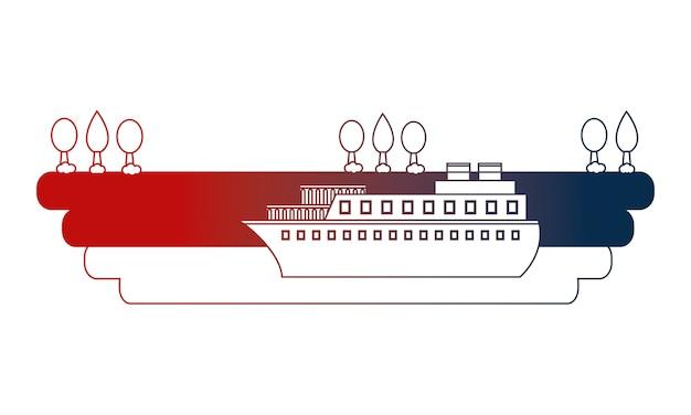 ポートベクトル図でのコンテナ船の出荷