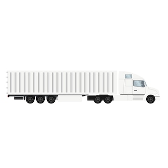Container trailer truck for export with cold storage.