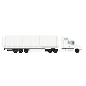Container trailer truck with cistern.