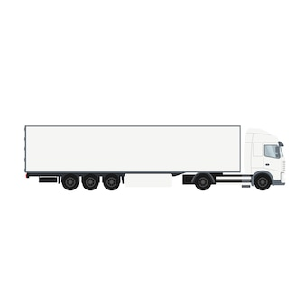 Container trailer truck with cold room