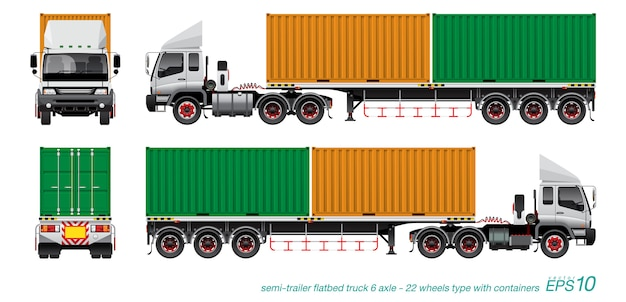 Container trailer truck