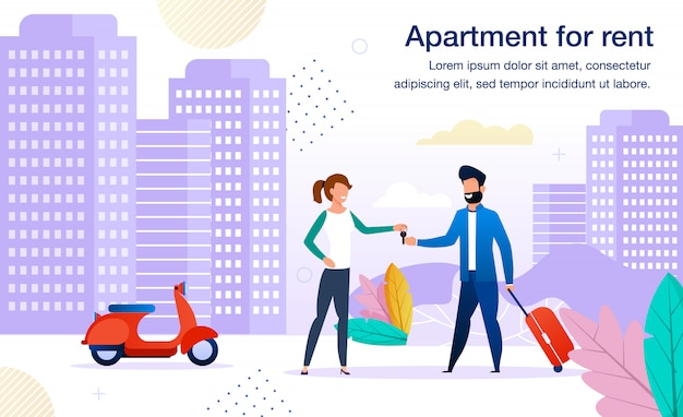 Contemporary apartment for rent flat  banner