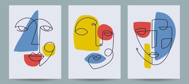 Шаблоны обложек современного искусства векторные иллюстрации