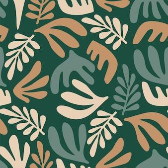 식물을 가진 현대 미술 완벽 한 패턴입니다.