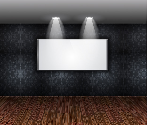 Contemporary elegant showroom wall