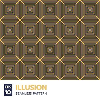 現代的な幾何学的な正方形のグリッド線のシームレスなパターン