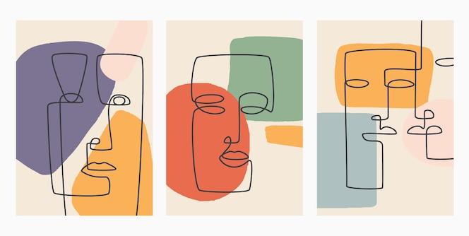Disegnato a mano contemporanea. linea continua, concetto elegante minimalista.
