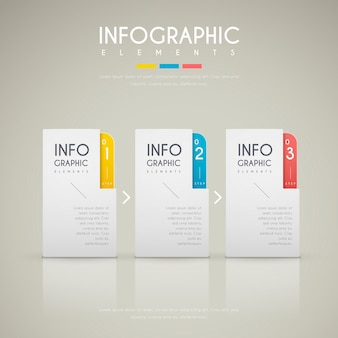 Contemporary infographic design with colorful labels elements