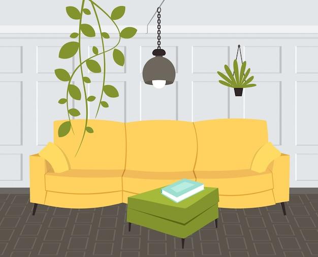Contemporary living room interior empty no people home modern apartment   horizontal