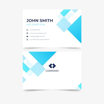 Contemporary monochromatic business card