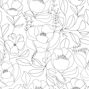 Contemporary nature seamless pattern.