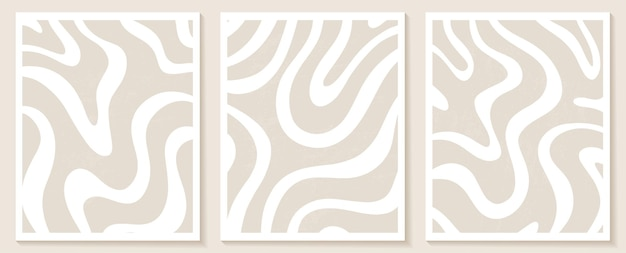 Contemporary templates with abstract shapes and line in nude colors