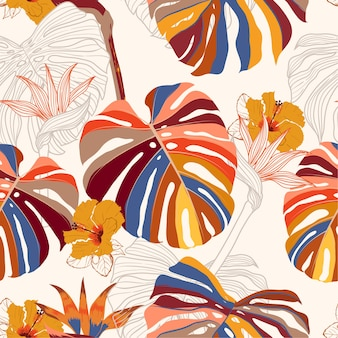 Contemporary tropical pattern