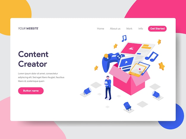 Content creator illustration