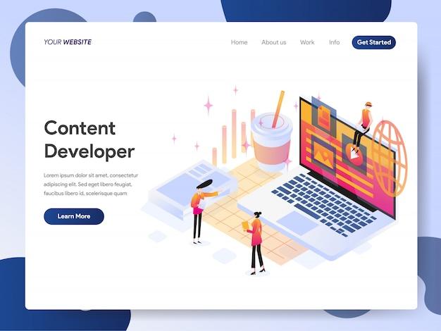 Content developer banner of landing page