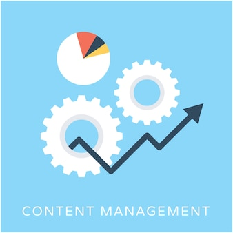 Content Management Flat Vector Icon