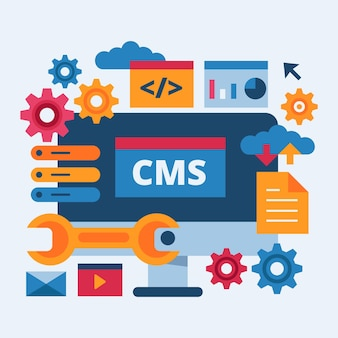 Content management system illustration