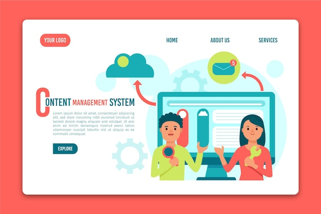 콘텐츠 관리 시스템 랜딩 페이지 템플릿