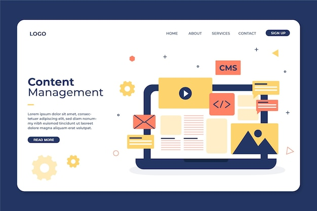 Content management system web template