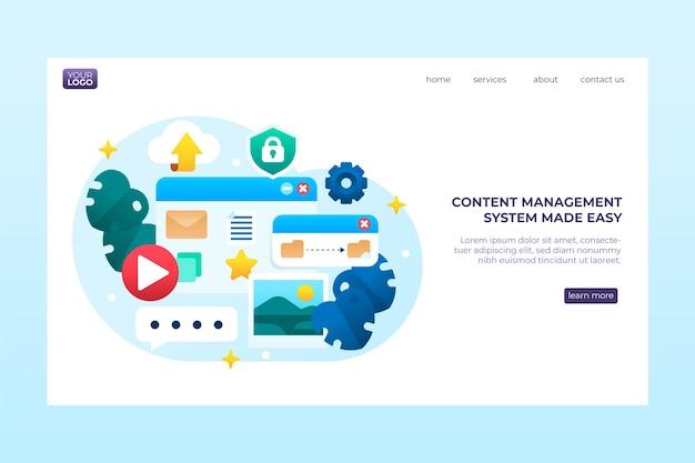 Modello web del sistema di gestione dei contenuti