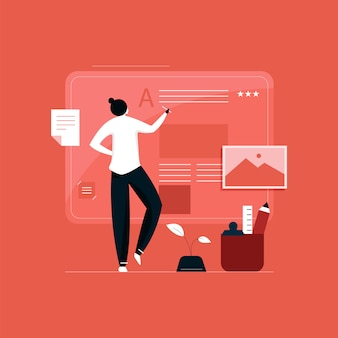 Content marketing and blogging concept